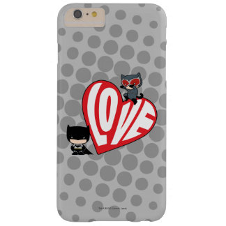 Ataque repentino del Catwoman de Chibi en Batman Funda Barely There iPhone 6 Plus