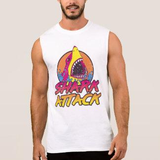 ataque retro del tiburón de los años 80 camiseta sin mangas