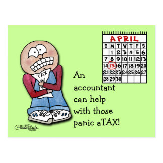 ¡aTAX del pánico! Postal