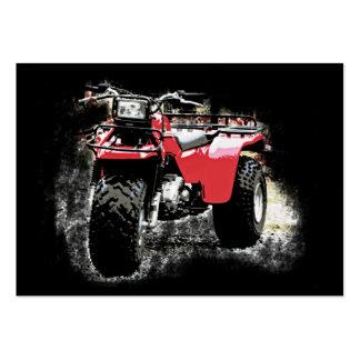 ATC de la motocicleta del policía motorizado de Tarjetas De Visita Grandes