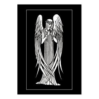 ATC de luto de la tarjeta del ángel de Beardsley Plantilla De Tarjeta De Visita