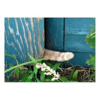 ATC del ~ de la cola de gato Plantillas De Tarjetas De Visita