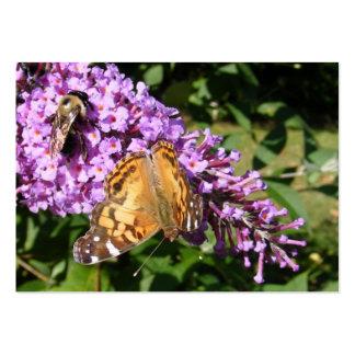 ATC del ~ de la mariposa y de la abeja Tarjetas De Visita Grandes