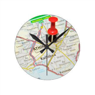 Atenas, Grecia Reloj Redondo Mediano