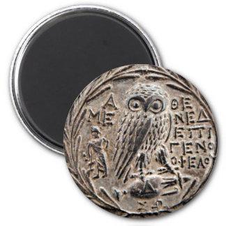 Atenas Tetradrachm de plata Imán Redondo 5 Cm
