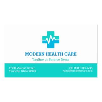 Atención sanitaria médica - logotipo limpio tarjetas de visita