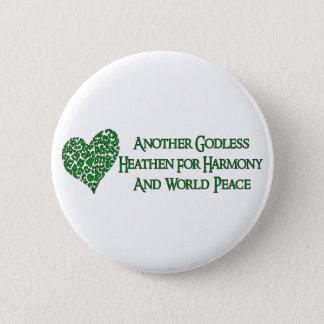 Ateo para la paz de mundo chapa redonda de 5 cm