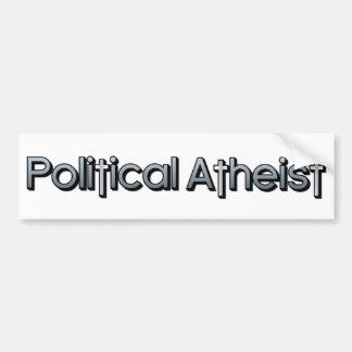 Ateo político etiqueta de parachoque