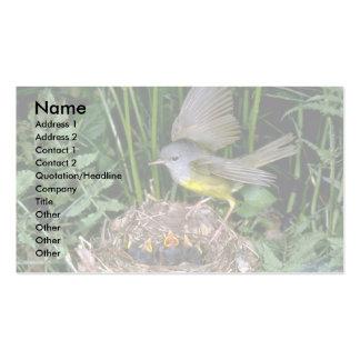 Aterrizaje de luto de la curruca en jerarquía plantilla de tarjeta de visita