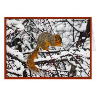 Atesore en la tarjeta de Navidad de la nieve 6142