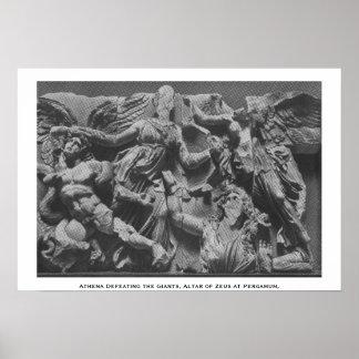 Athena que derrota el Giants Poster