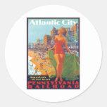 Atlantic City, New Jersey Etiqueta Redonda