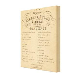 Atlas 2 de la biblioteca de Thomas Impresión En Lona