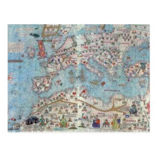 Atlas catalán Detalle de la África del Norte y de Postal