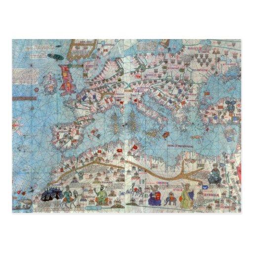 Atlas catalán: Detalle de la África del Norte y de Postal