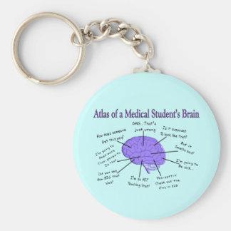 Atlas de un cerebro #2 del estudiante de medicina llavero redondo tipo chapa