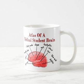 Atlas del cerebro del estudiante de medicina taza de café