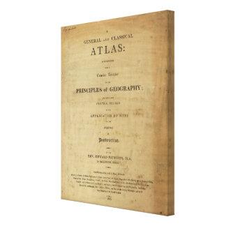 Atlas general y clásico de la página de título lienzo envuelto para galerías