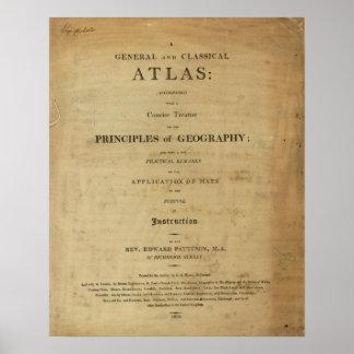 Atlas general y clásico de la página de título póster