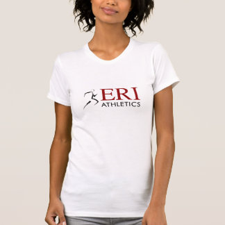 Atletismo de ERI - manga corta w/Slogan del blanco Camiseta