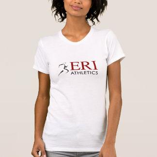 Atletismo de ERI - manga corta w/Slogan del blanco Camisetas