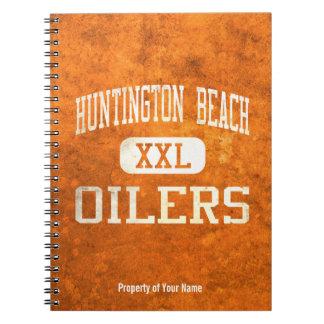 Atletismo de los engrasadores de Huntington Beach Libreta Espiral