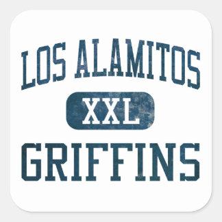 Atletismo de los grifos de Los Alamitos Pegatina Cuadrada