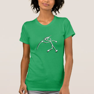 Atletismo de Silhouet de la camiseta de Stickman