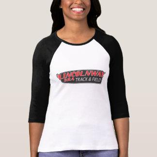 Atletismo del raglán de la manga de las señoras camisetas