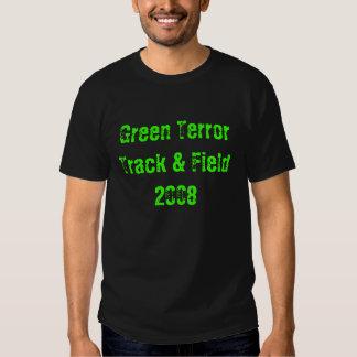 Atletismo verde 2008 del terror camisetas
