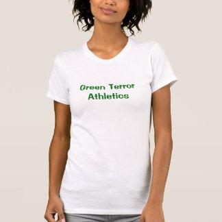 Atletismo verde del terror camisetas