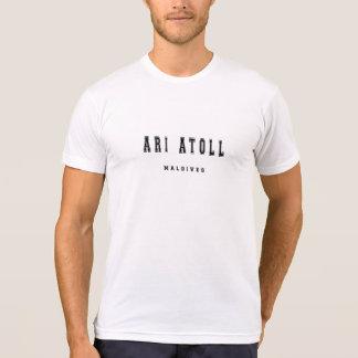Atolón Maldivas de Ari Camiseta