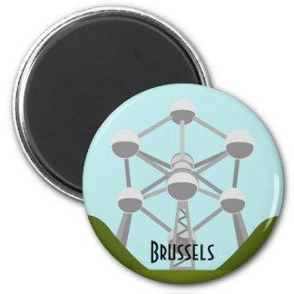 Atomium en Bruselas Imán Redondo 5 Cm