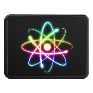 Átomo que brilla intensamente colorido - cubierta