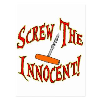 ¡Atornille al Innocent! Postal