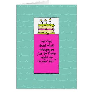 Atornille la torta de cumpleaños de los tarjeta de felicitación