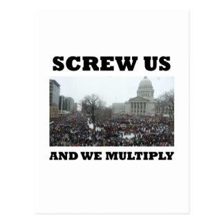 Atorníllenos y nos multiplicamos tarjetas postales
