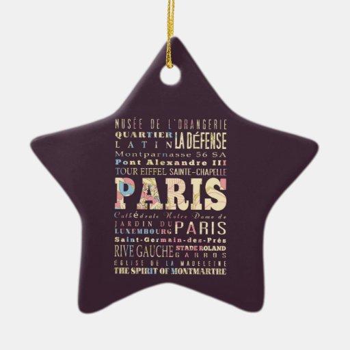 Atracciones y lugares famosos de París, Francia Adornos De Navidad