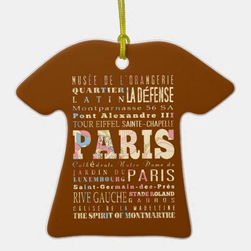 Atracciones y lugares famosos de París, Francia Ornamento De Navidad
