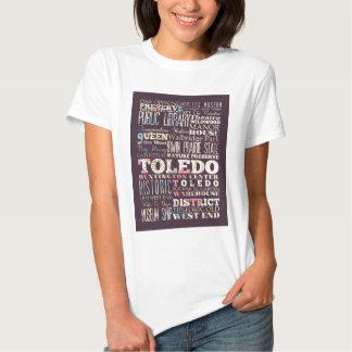 Atracciones y lugares famosos de Toledo, España Camiseta