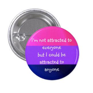 Atraído a cualquier persona la insignia chapa redonda de 2,5 cm
