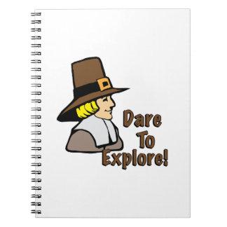 Atrévase a explorar libro de apuntes