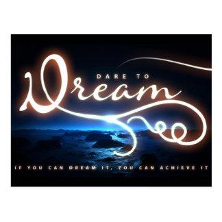 Atrevimiento para soñar la postal