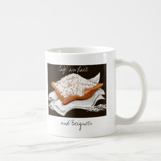 Au Lait y Beignets de Cafe Taza De Café