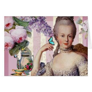 Au Trianon pequeno - día de Thé de madres feliz Tarjeta De Felicitación