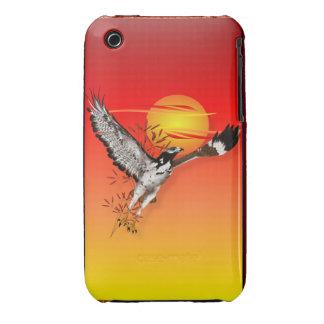 Augur que encuentra el sol de la mañana. Caso Case-Mate iPhone 3 Cárcasas