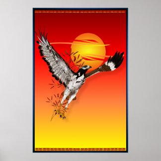 Augur que encuentra el sol de la mañana. poster gr