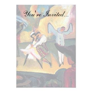 Auguste Macke - ballet ruso Invitación 12,7 X 17,8 Cm