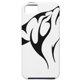 Aullido simple del lobo funda para iPhone SE/5/5s