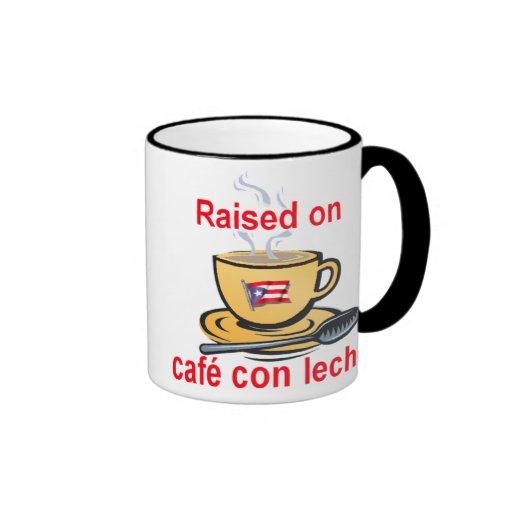 aumentado en leche de la estafa del café taza